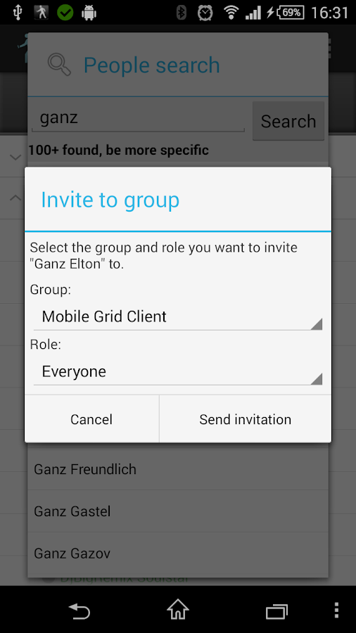Mobile Grid Client - screenshot