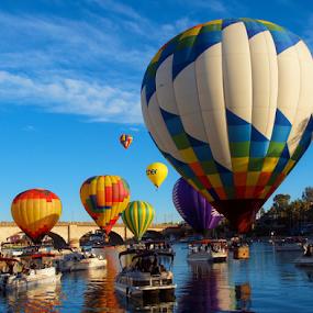 Boats & Balloons by Becky McGuire - Transportation Boats ( hot air, havasu, tvlgoddess,  )