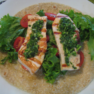Simple Grilled Swordfish with Garlic Scape Pesto! Recipe