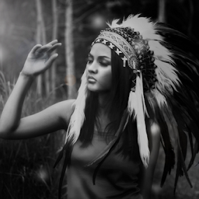 by Whika Singer - Black & White Portraits & People