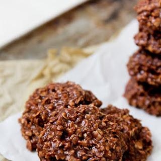 No-Bake PB Chocolate Oatmeal Cookies