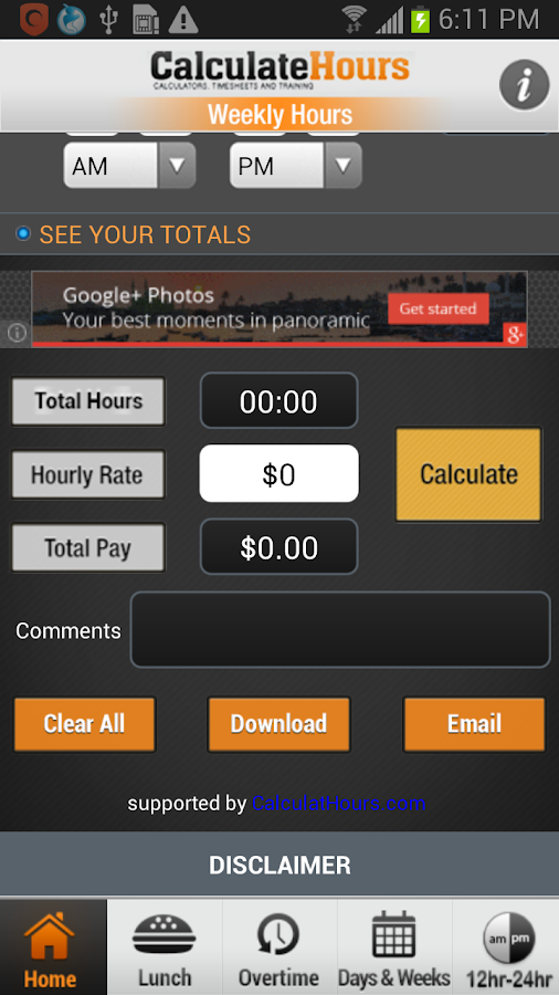date and time calculator interval in days hours app