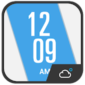 Oblique Clock Weather Widget