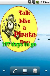 talk like a pirate countdown - screenshot thumbnail