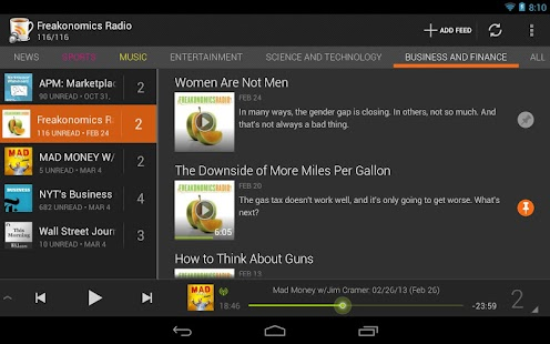 BeyondPod for Tablets - screenshot thumbnail