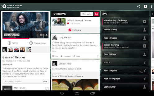 Beamly TV: by zeebox - screenshot thumbnail