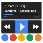 Poweramp skin 5in1 Now Dark