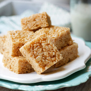Healthy Rice Crispy Treats (Vegan).