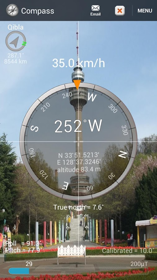 Smart Compass Pro- screenshot