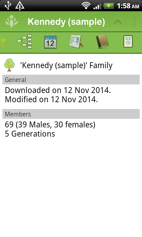 FamilyGTG (free) - Family Tree- screenshot