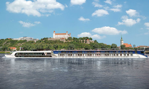 AmaCerto-exterior -  The 164-passenger AmaCerto, which launched in May 2012, features twin balconies, a heated pool and sweeping views of scenic and historic destinations along the Rhine River.