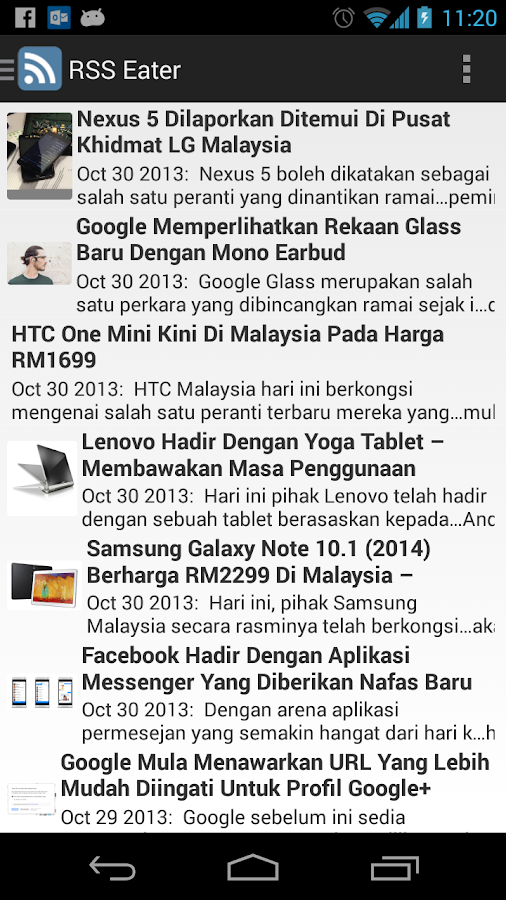 RSS Eater - Malaysia edition- screenshot