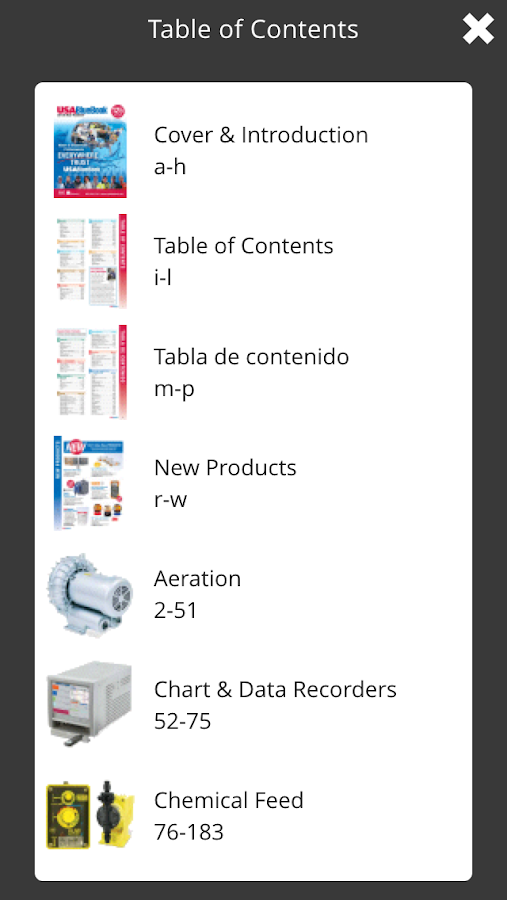 USABlueBook Catalogs - screenshot