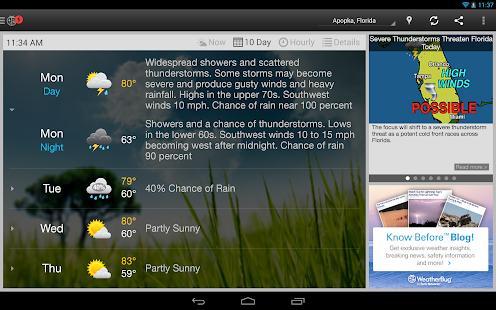 WeatherBug - Forecast & Radar Screenshot 28