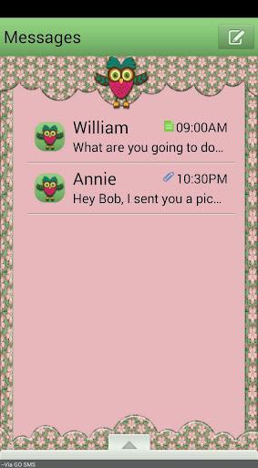 HappyOwls GO SMS THEME