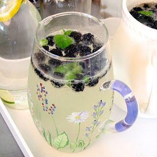 Blackberry Elderflower Spritzer with Mint