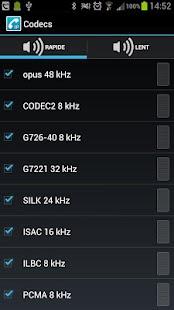Codec Pack for CSipSimple- screenshot thumbnail