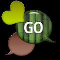 GO SMS - Dazzling Hearts 10 icon