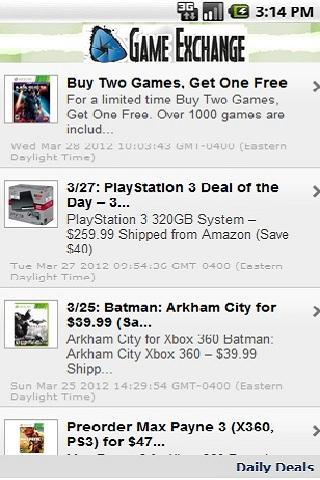 Daily Video Game Deals - screenshot