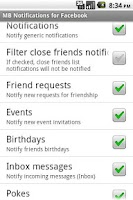 Screenshot of MB Notifications for FB (Free)