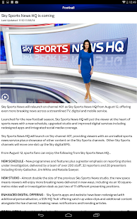 Sky Sports for Android- screenshot thumbnail