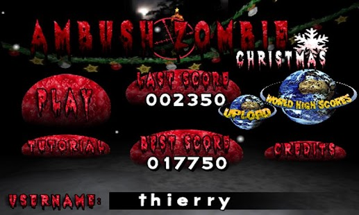 Ambush Zombie Christmas Free- screenshot thumbnail