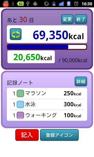減量記録~あと何kcal~