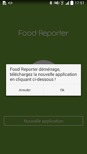 Food Reporter ancienne version