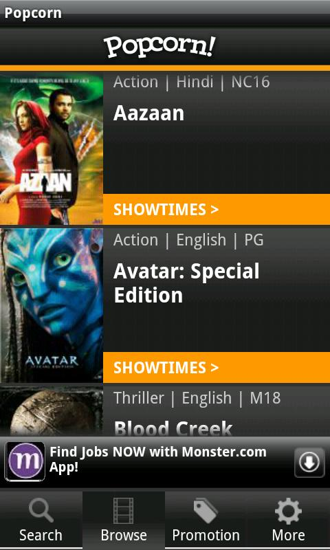 Popcorn: SG Movie Showtimes - screenshot