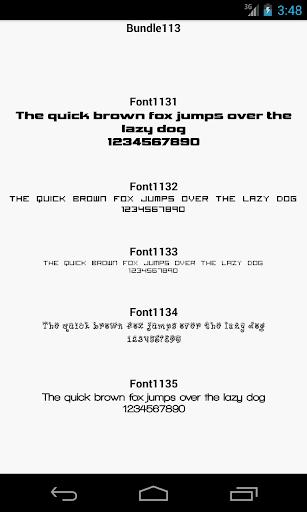 Fonts for FlipFont 113