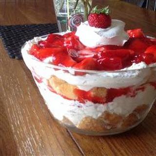 Strawberry Angel Food Dessert.