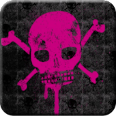 Pink Skull Go Launcher Theme