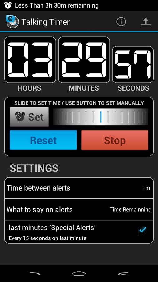 Talking Timer - screenshot