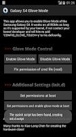 Screenshot of Galaxy S4 Glove Mode