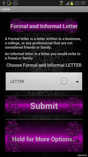Formal InLetter