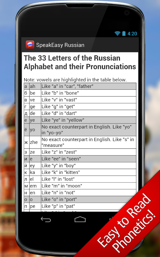 SpeakEasy Russian ~ Phrasebook- screenshot