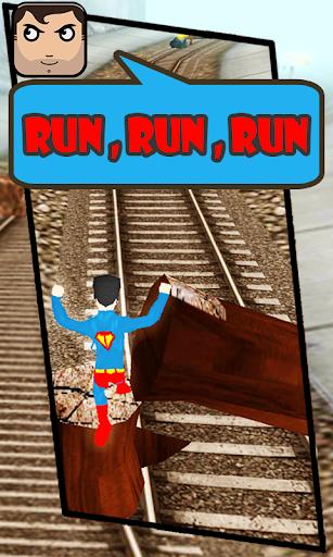 Subway Super Man Runner 3D