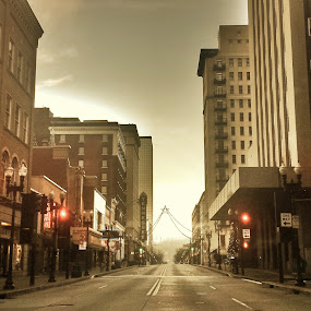 Red Light by Dustin VanHoose - City,  Street & Park  Neighborhoods ( red, knoxville, tennessee, light, city,  )