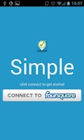 Screenshot of Simple Checkin for Foursquare