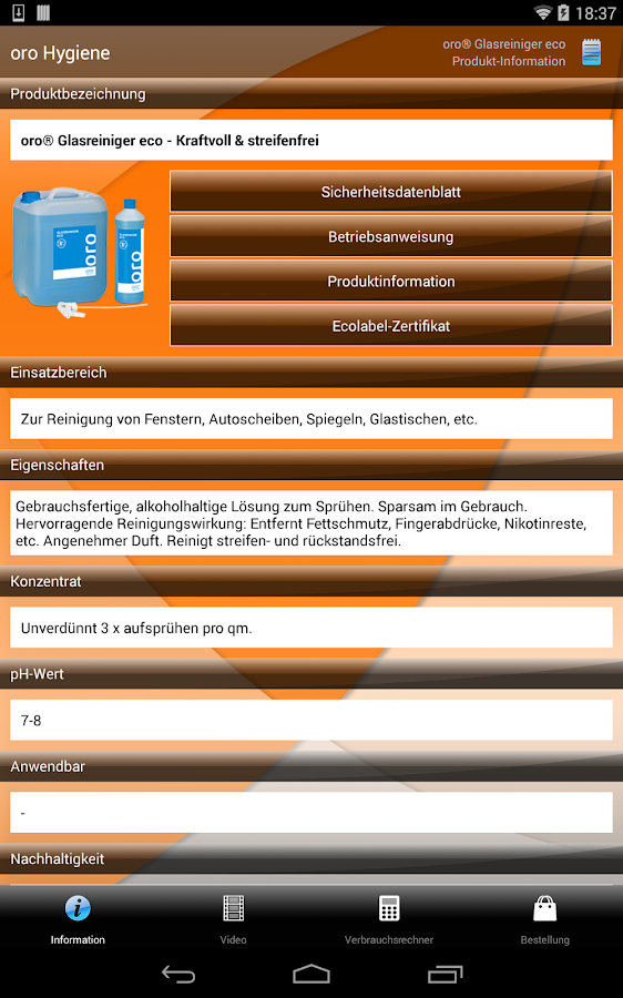 orochemie Hygiene- screenshot