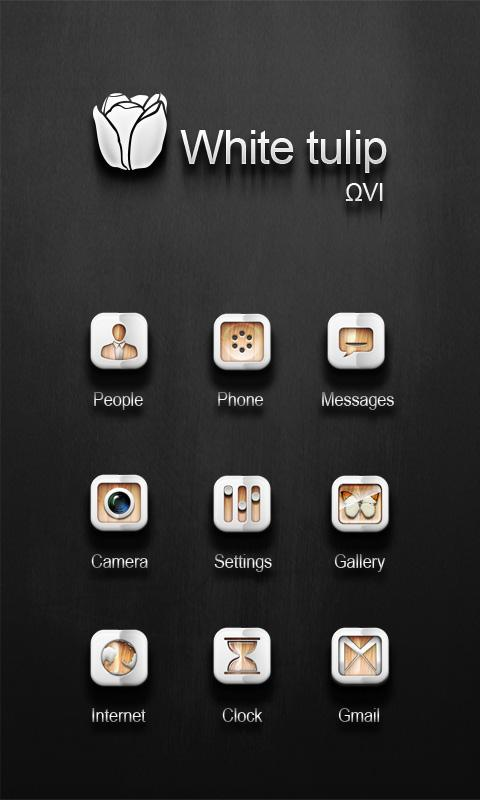 WhiteTulip GO LauncherEX Theme - screenshot