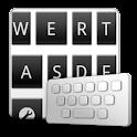 MonochromeBlack keyboard skin logo