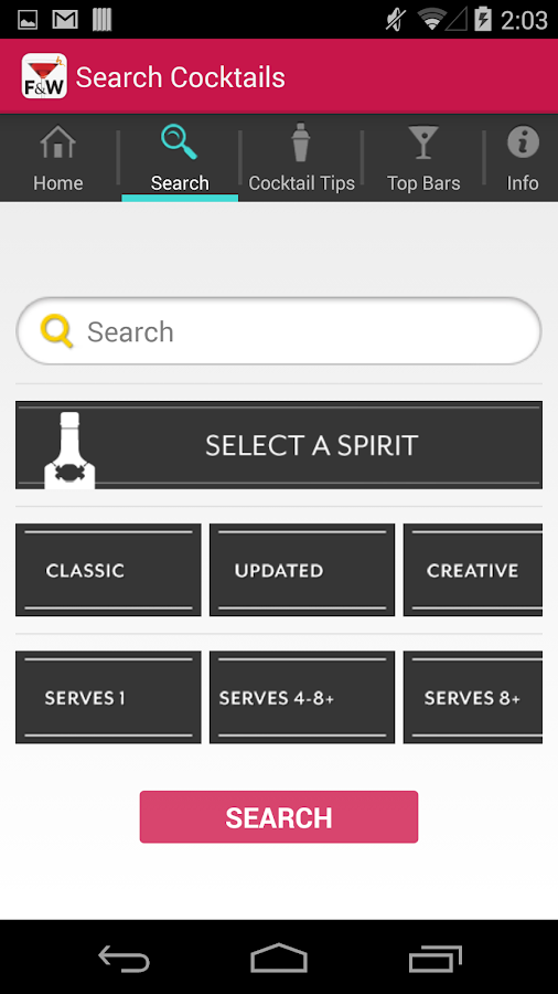 FOOD & WINE Cocktails- screenshot