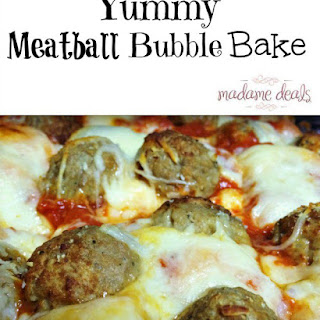 Baked Meatball Bubble Biscuits