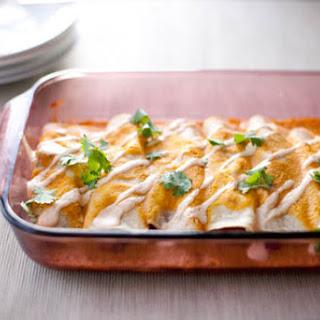 Winter Enchiladas with Pumpkin Enchilada Sauce