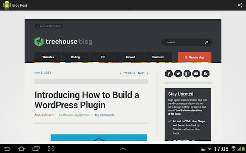 Blog Reader- screenshot thumbnail