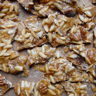 Spicy Pumpkin Seed-Pecan Brittle