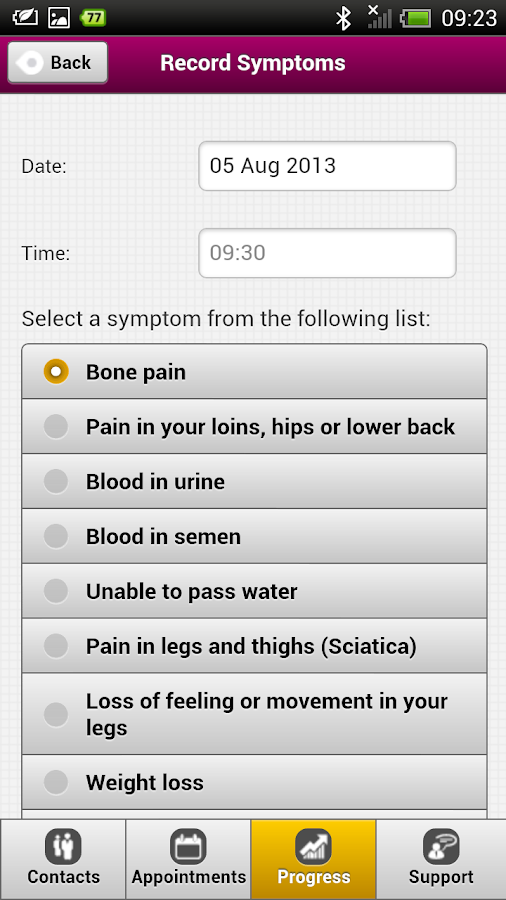 Prostate Assistant- screenshot