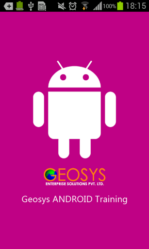 Geosys ANDROID Training
