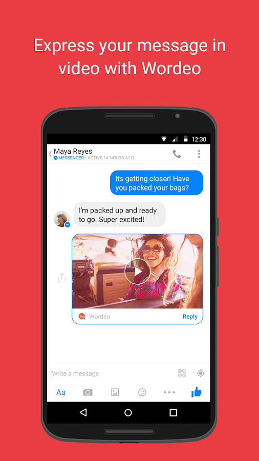 Wordeo for Messenger- screenshot
